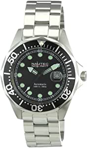 Nautec No Limit Herren-Armbanduhr Deep Sea Bravo Analog Automatik DSB AT/STSTBKBK