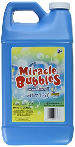 Darice 1021-13 Miracle Bubbles Solution Refill, 64-Ounce Bottle Colors May Vary,1