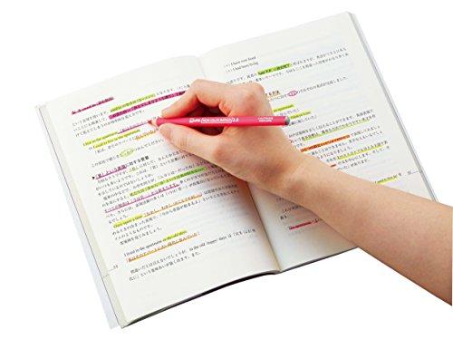 クツワ 鉛筆の蛍光マーカー RF017PK ピンク 削り付キャップ付