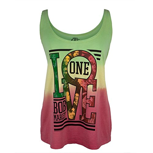 Bob Marley - One Love Collage Tie-Dye Juniors Tank Top - Small (Tie Dye Shirt Marley compare prices)