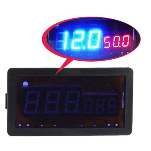 Blue / Red Dc Digital Led Combo Panel Amp Meter Voltmeter With Shunt 100V 50A Dc front-693286