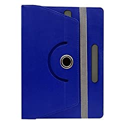 Gadget Decor (TM) PU LEATHER Rotating 360° Flip Case Cover With Stand For Zebronics ZEBPAD7C  - Dark Blue