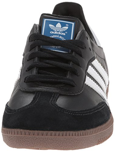 Adidas Originals Men's Samba Soccer-Inspired Sneaker,Black/White/Gum,10.5 M US