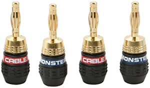 Monster QuickLock MKII Gold Banana Connectors For Easy Self Crimping Terminations - 2 pr (Discontinued by Manufacturer)