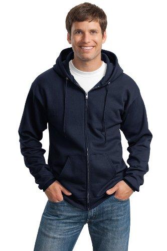 Port & Company Men's Ultimate Full Zip Hooded Sweatshirt M Navy