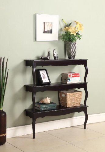 3-Tier Cherry Finish Wood Wall Plant Stand Shelf Bookcase