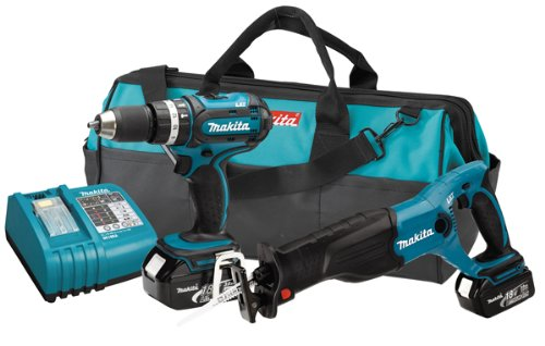 Makita LXT224 2-Piece 18-Volt LXT Lithium-Ion Cordless Combo Kit
