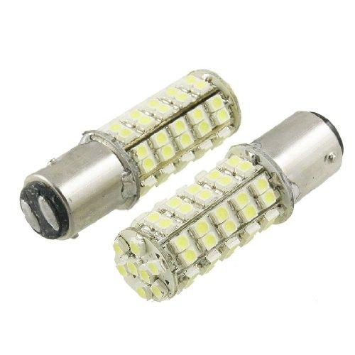 Cutequeen Led Car Lights Bulb 1157 Ba15D 3528 1210 68-Smd Stop Brake Tail Light Bulbs 12V - White