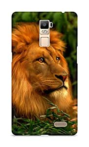 Amez designer printed 3d premium high quality back case cover for Oppo R7 Plus (Abstract Lion 3)