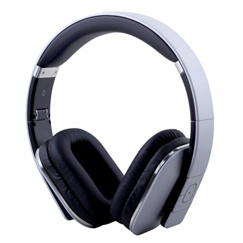 August Ep650 Bluetooth Wireless Stereo Headphones - Comfortable Leather Cushioned Headset With Built-In Microphone, 3.5Mm Audio In Socket And Rechargeable Battery - Compatible With Cell Phones, Iphone, Ipad, Laptops, Tablets, Smartphones Etc. (Silver)
