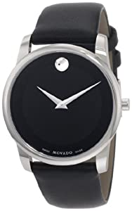 Movado Men's 0606502 Museum Stainless Steel Black Museum Dial Strap Watch from Movado