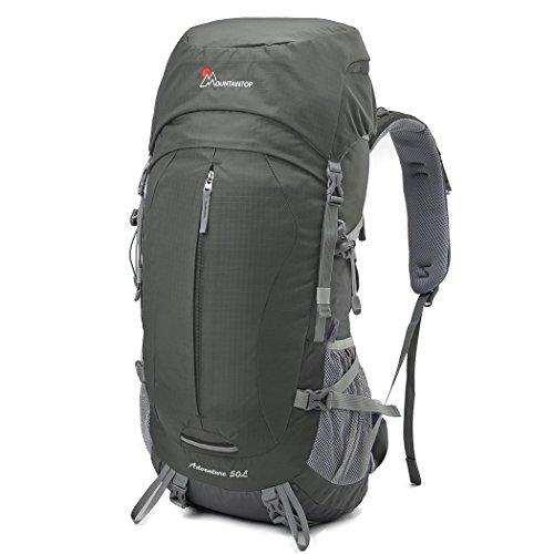 Mountaintop Zaini Trekking con Impermeabile 50L per gli sport di campeggio esterno di corsa con la copertura della pioggia-5818III