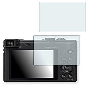 2 x Golebo Semi-Matt protection d'écran pour Panasonic Lumix DMC-TZ60 - (Mat satine, Montage sans bulles, A retirer simplement)