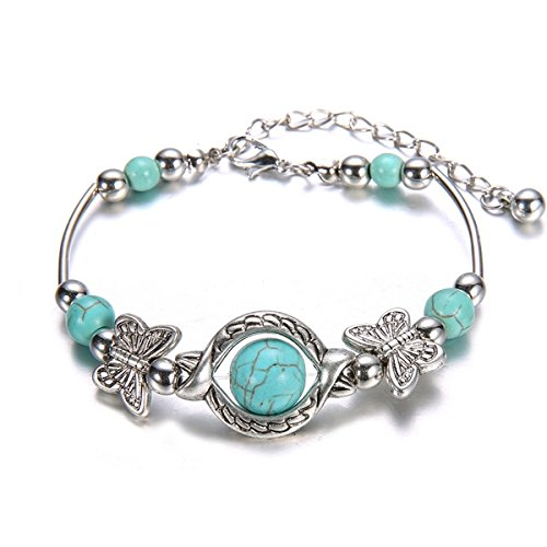 bohemia-vintage-turquoise-beads-silver-plated-butterfly-bracelet-bangle-handmade-accessories-by-gree