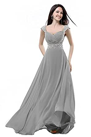 Balllily women 39 s bridesmaid dress size 10 silver grey for Amazon cheap wedding dresses