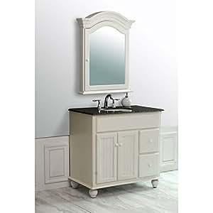 Snow white 36quot bathroom vanity set vanity sinks amazoncom for Bathroom vanities mokena il
