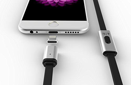 iina-いのべ マグネットケーブル 1m ライトニングケーブル iPhone 6s / 6s Plus / iPhone 6 / 6 Plus / iPad Air / iPad mini 用 (Lightningセット ケーブル+アダプタ)