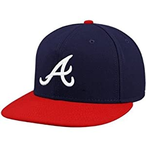 MLB Atlanta Braves New Era 59 Fifty Wool Fitted Hat Navy Red (6 3 4) by New Era