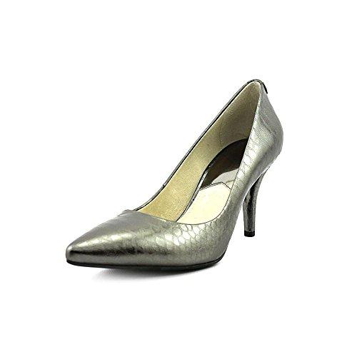 Michael Kors Mk- Flex Mid Pump Womens Size 11 Gray Leather Pumps Heels Shoes