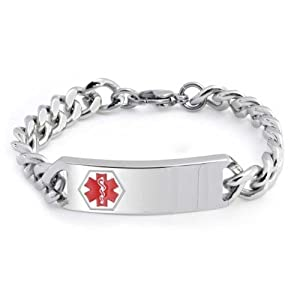 Bling Jewelry Stainless Steel Medical Id Bracelet from Bling Jewelry