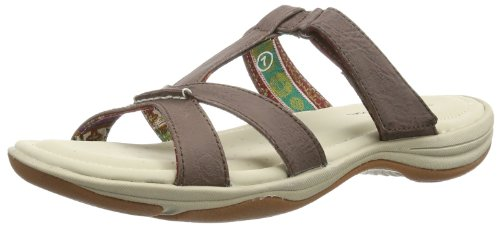 Skechers Relaxed Fit Pillow Tops Womens Slide Sandals Brown 9 front-1048972