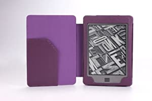 MoKo Cover Case for Amazon Kindle Touch, PURPLE (With Smart Cover Auto Sleep / Wake)