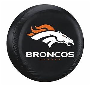 Denver Broncos Black Tire Cover by Hall of Fame Memorabilia