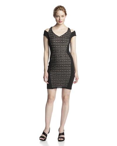 A.B.S. by Allen Schwartz Women's Open-Shoulder Lace Dress