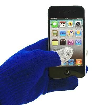 「全6色」スマホ手袋 タッチパネル対応手袋 Touch Gloves ネービー 親指と人差し指と中指タッチ対応 (1833-4)