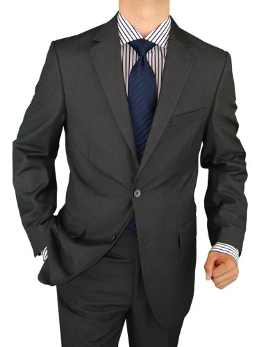 Salvatore Exte Mens Suit Wool Feel 2 Button Jacket
