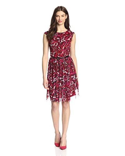 London Times Women's Leopard Print Dress
