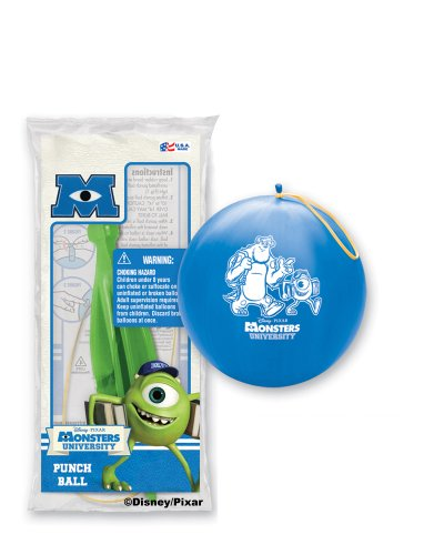 Pioneer National Latex Monsters University Punch Balls, Assorted, 6-Piece