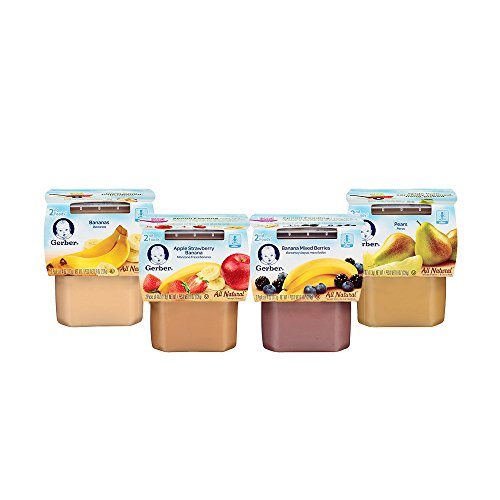 Gerber 2nd Foods Variety Pack, Fruit, 4 Ounce Tubs, 2 Count (Pack of 16) (Banana Baby Food Gerber compare prices)