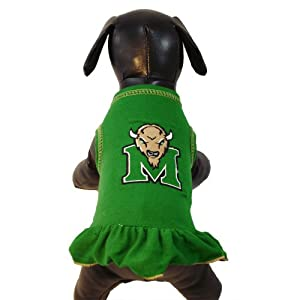 Buy NCAA Marshall Thundering Herd Cheerleader Dog Dress (Team Color, X-Small) by All Star Dogs