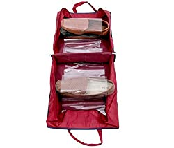 Shoe Bag With Six Transparent Partition