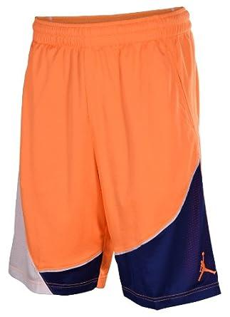 Jordan Nike Air Mens Jumpman Basketball Shorts-Orange White Blue by Jordan