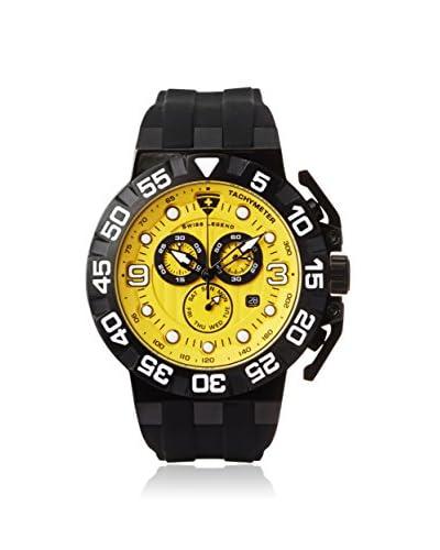 Swiss Legend Men's 10125-BB-07 Challenger Black/Yellow Silicone Watch