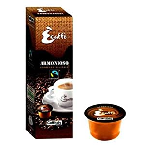 Find Caffitaly Ecaffe Armonioso FAIRTRADE Espresso Coffee Capsule from Caffitaly