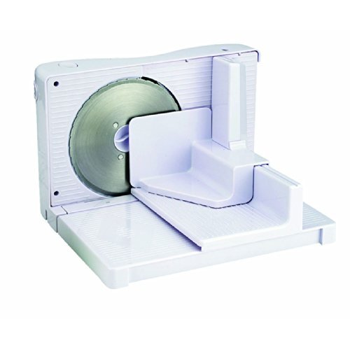 Electric Adjustable Compact Food Slicer with Tray and Fence (Crimson Bread Knife compare prices)