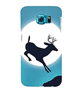 Deer Design 3D Hard Polycarbonate Designer Back Case Cover for Samsung Galaxy S6 Edge :: Samsung Galaxy Edge G925