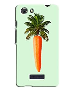 Blue Throat Carrot Tree Hard Plastic Printed Back Cover/Case For Micromax Unite 3