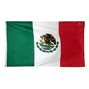 Mexico Flag Polyester 3 ft. x 5 ft.- - Mexican flag