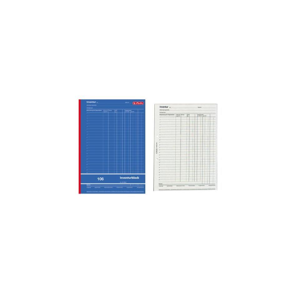 Herlitz 891408 Inventurblock 106 A4 50 Blatt Bürobedarf On