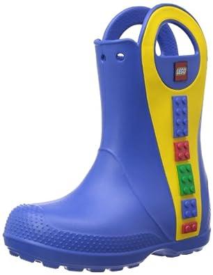 crocs Handle It LEGO Rain Boot 14807-430-111, Unisex-Kinder Gummistiefel, Blau (Sea Blue 430), EU 22/23