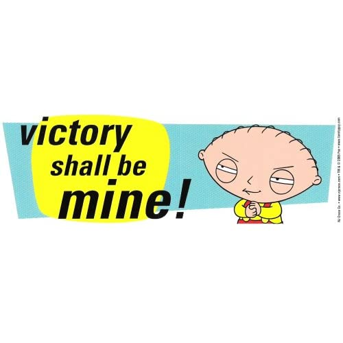 Amazon.com: Family Guy (Stewie) victory shall be mine! decal bumper