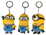 Despicable Me Minion Dave Stuart Jorge Keyring Keychain Bag Charm 3 Piece Set