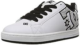 DC Men\'s Court Graffik SE Skate Shoe,  White/White Print,  10 M US