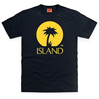 Official Island Records Logo One T Shirt, Mens, Black, Small