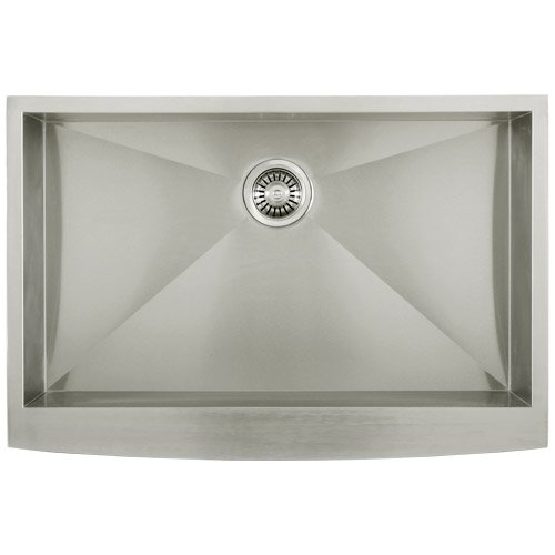 Phoenix Ph 4442 Zero Radius 33 Apron Farmhouse Single Bowl Curved Front 16 Gauge Stainless Steel Kitchen Sink Review Sofiasshubina