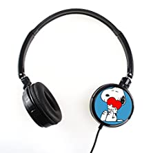 buy Snoopy 1Fsnp031 Earphone Headphone Fashion Cartoon Stereo Sound